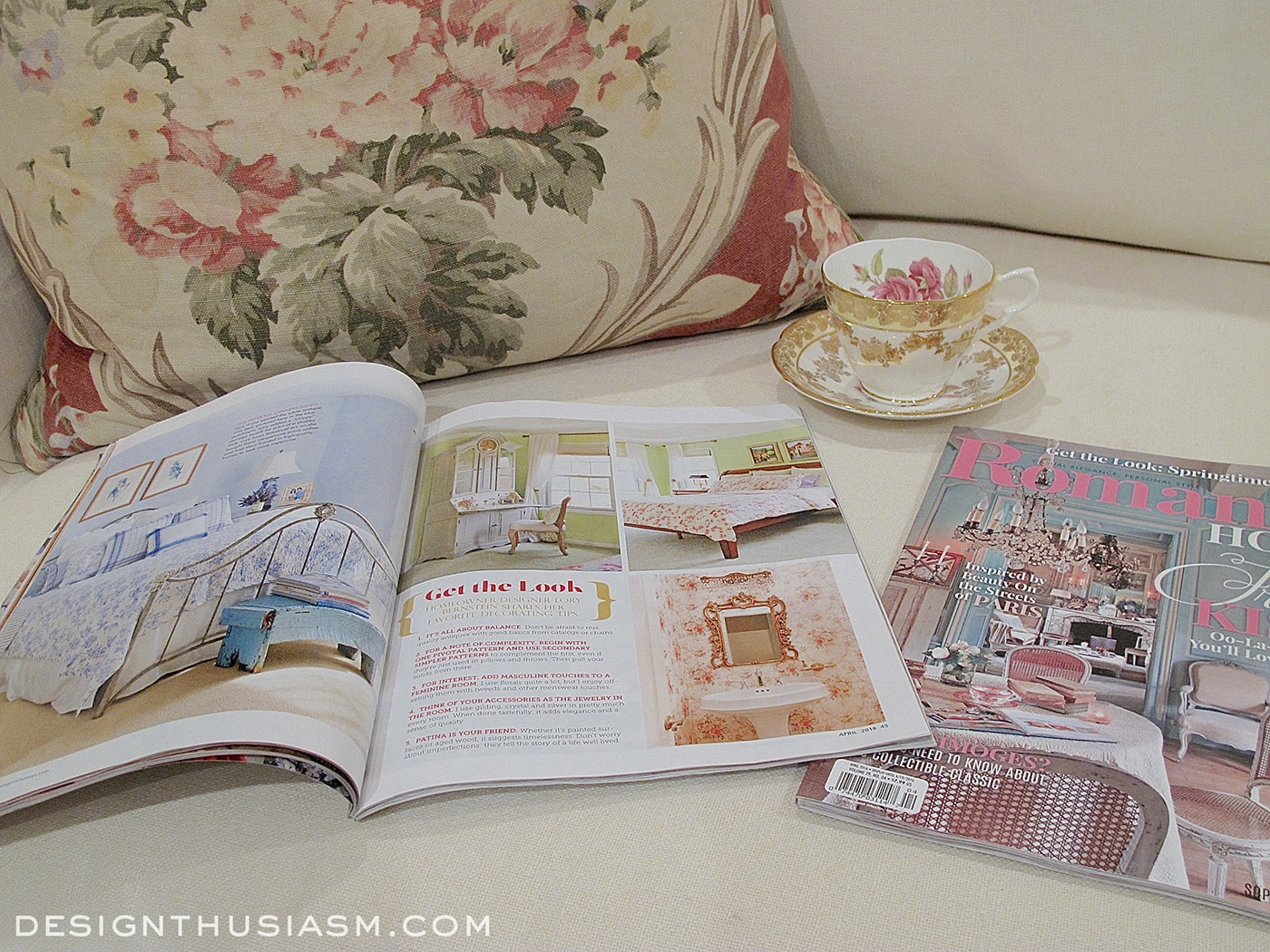Designthusiasm in Romantic Homes Magazine