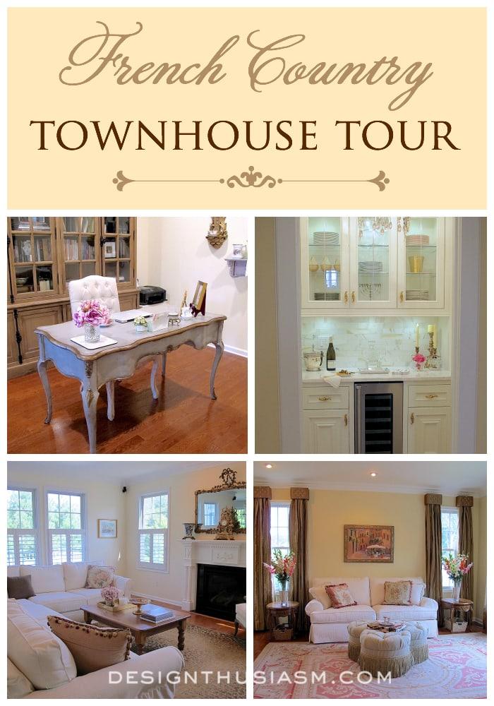 French Country Townhouse Tour - Designthusiasm.com