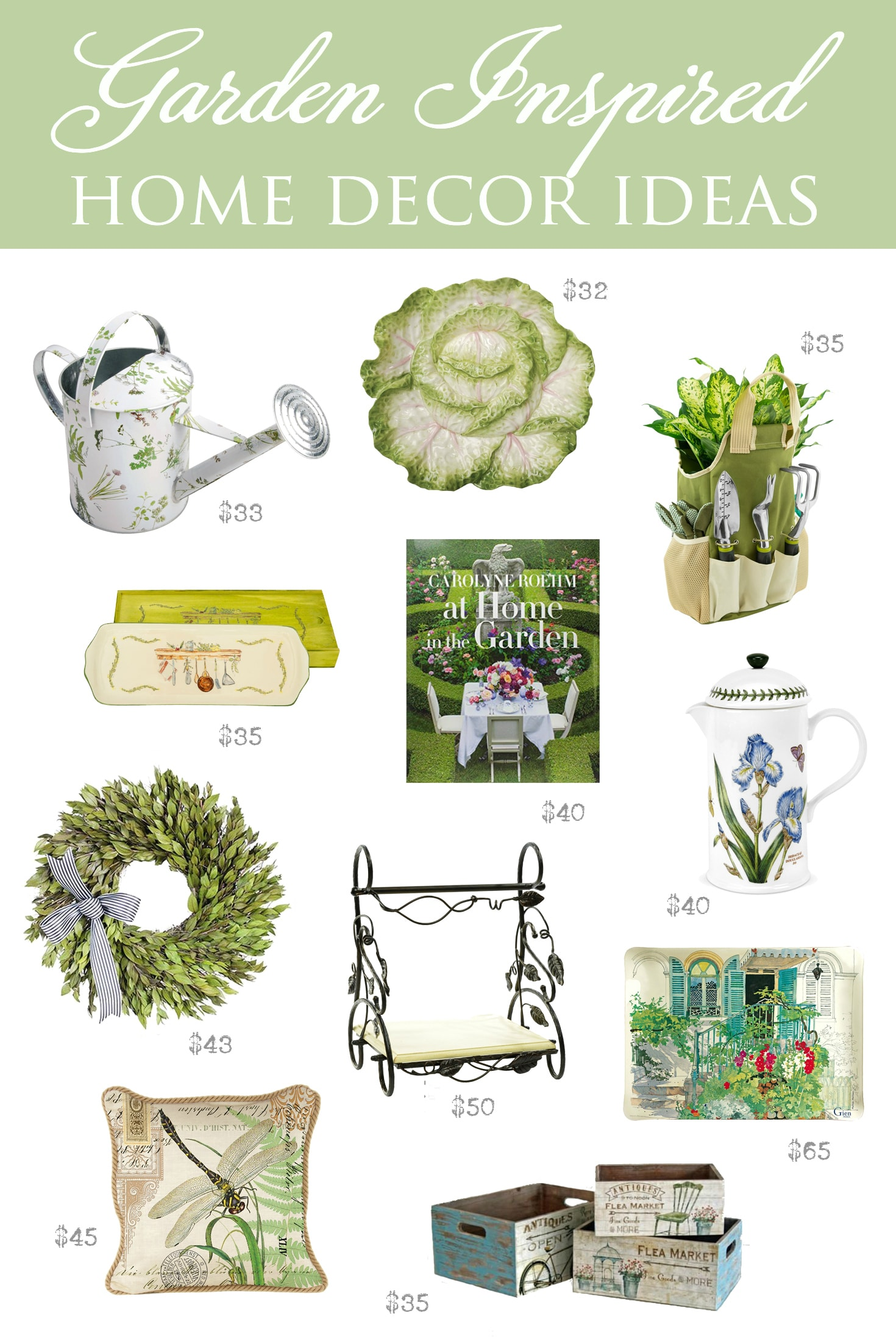 Garden Inspired Home Decor Ideas | Designthusiasm.com