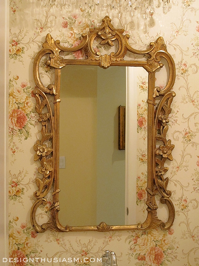 Adding French Country Charm with Gilded Mirrors - Designthusiasm.com
