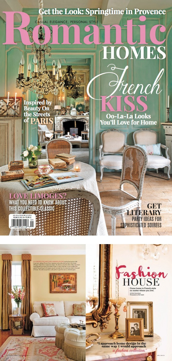 Designthusiasm in Romantic Homes - April 2016