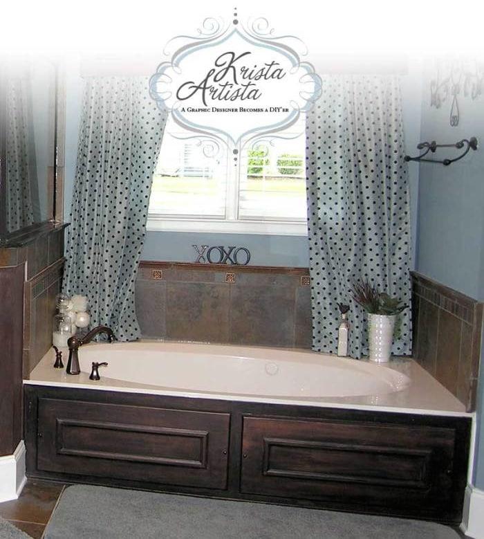 oil rubbed bronze tub surround
