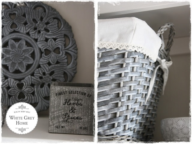 white grey home decor shared at share it one more time link party