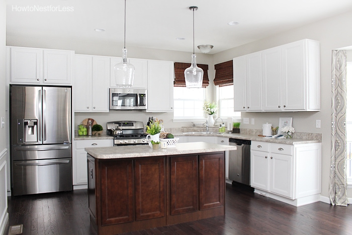 white-kitchen-dark-island