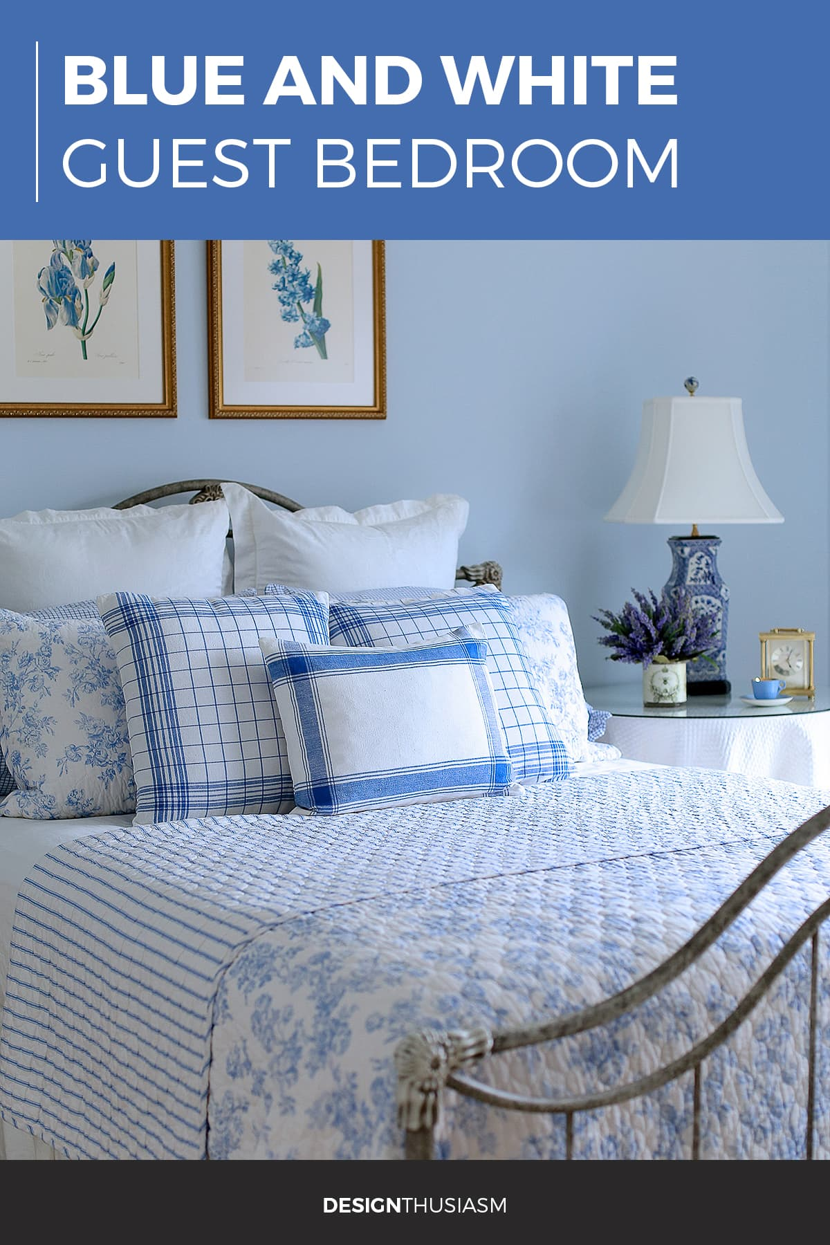 French Blue Guest Room