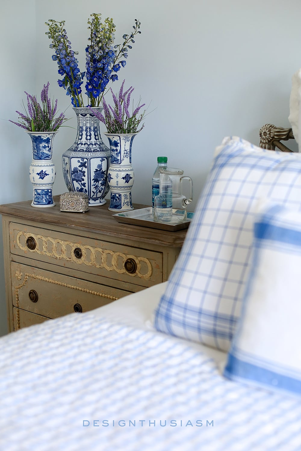 French Blue Guest Room for a Bonne Nuit