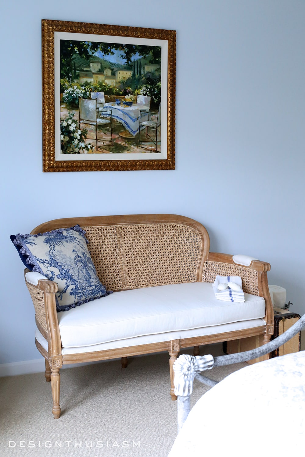 French Blue Guest Room for a Bon Nuit | Designthusiasm