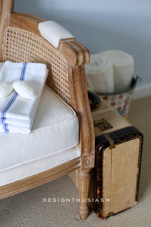 French Blue Guest Room for a Bon Nuit   Designthusiasm.com
