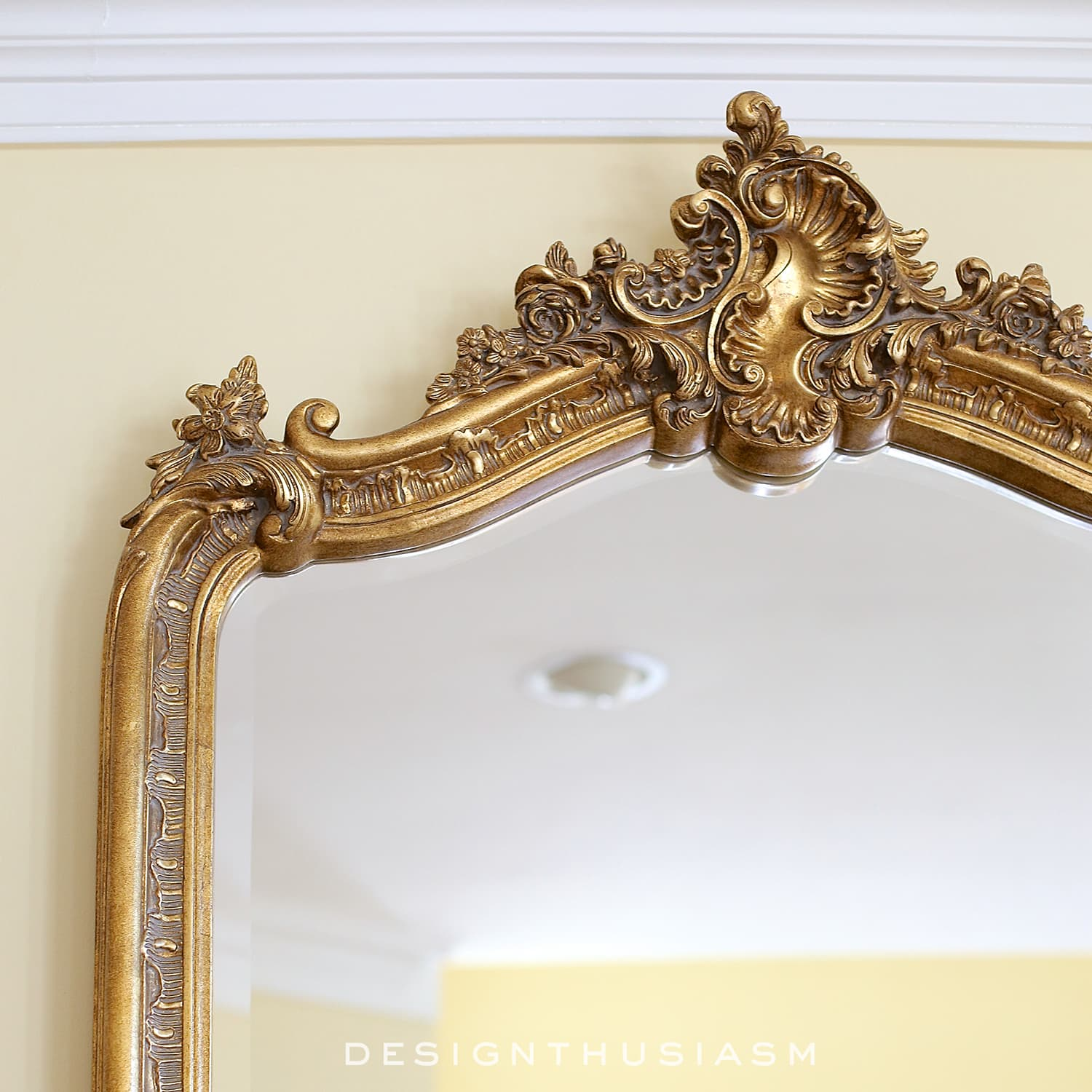 french country gold mirrors add french style to the living room