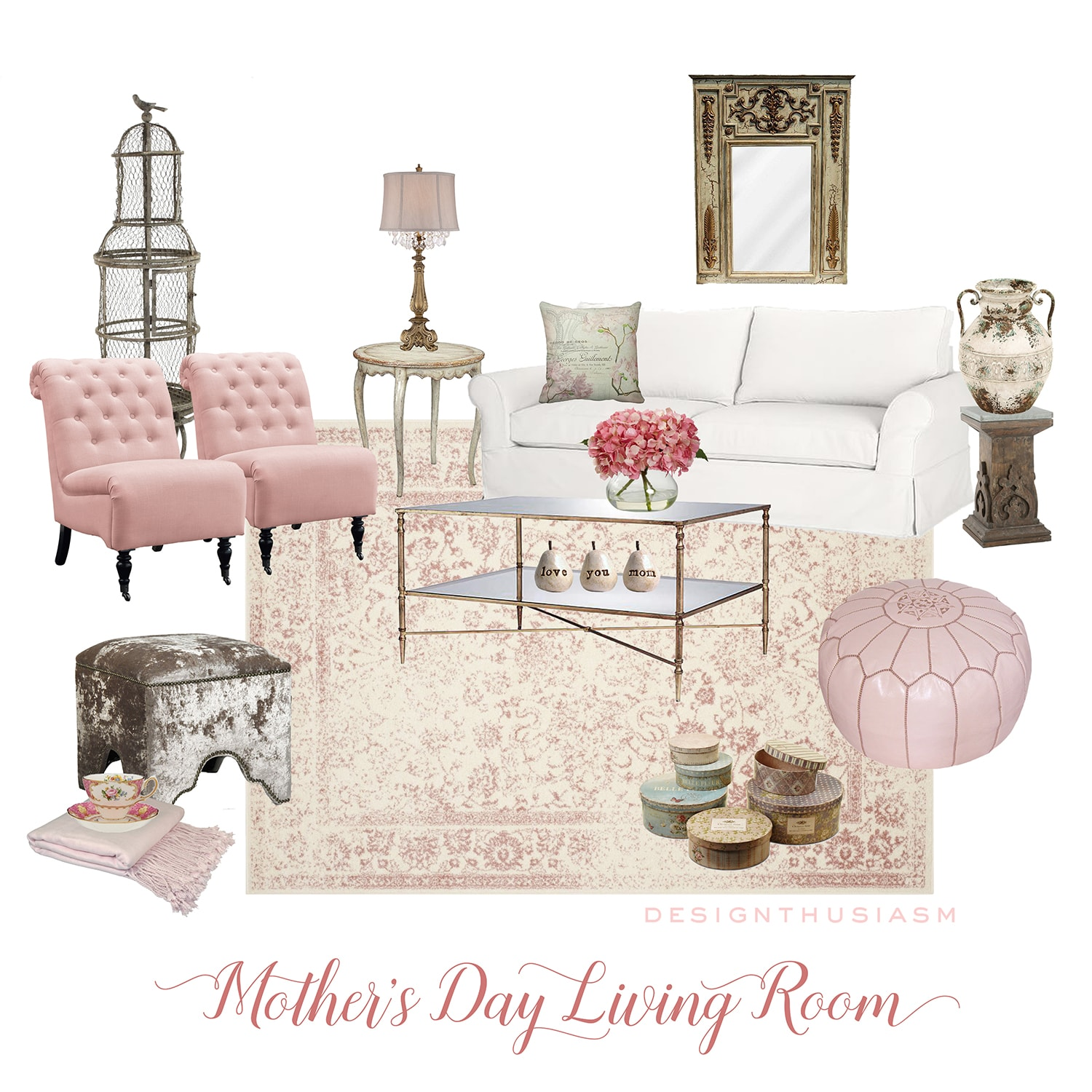 May eDesign | Mother's Day Living Room | Designthusiasm.com