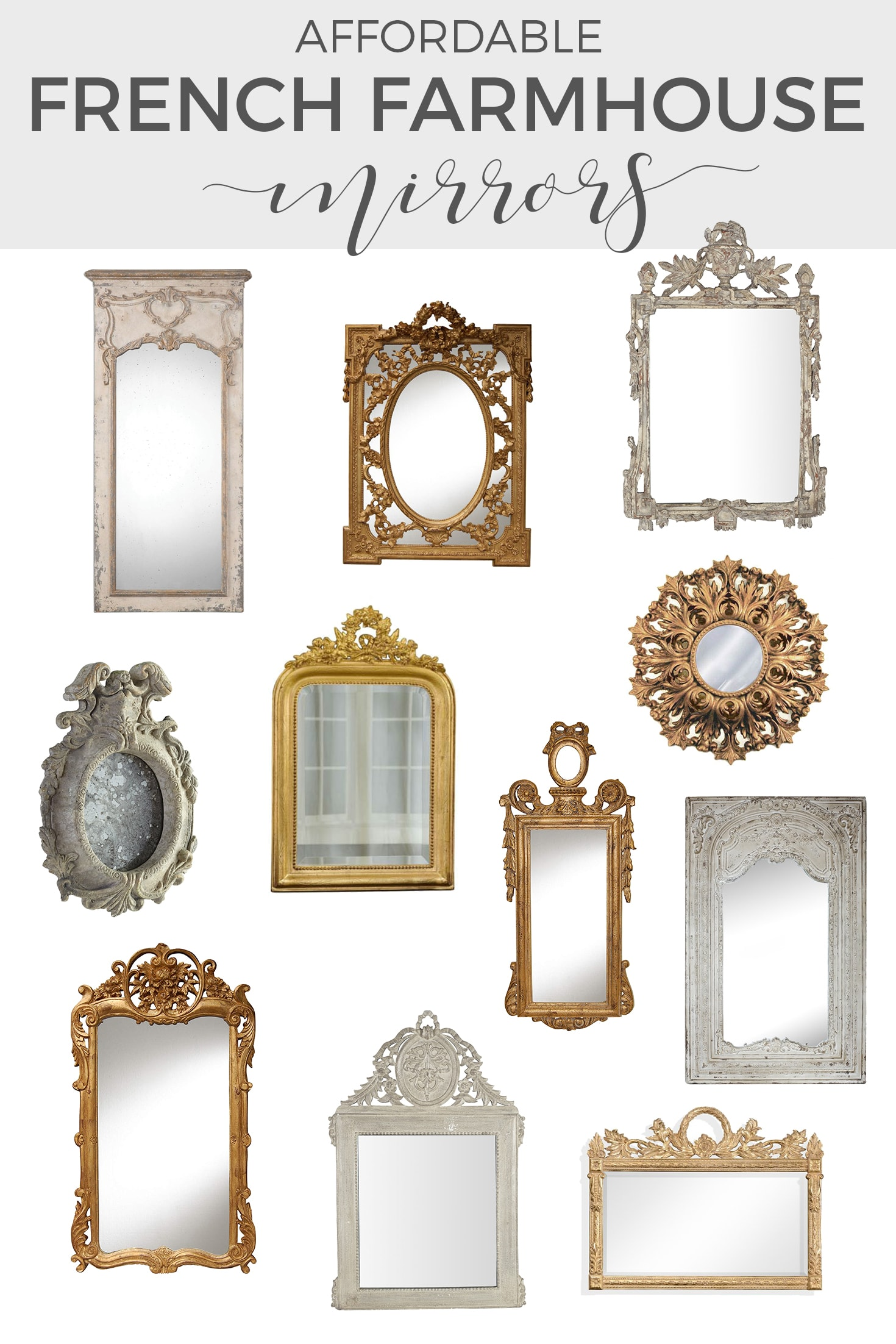 decorative mirrors and french gold mirrors