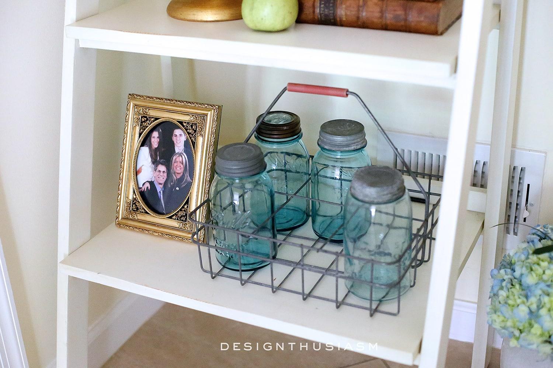 Styling a Bookshelf | Designthusiasm.com