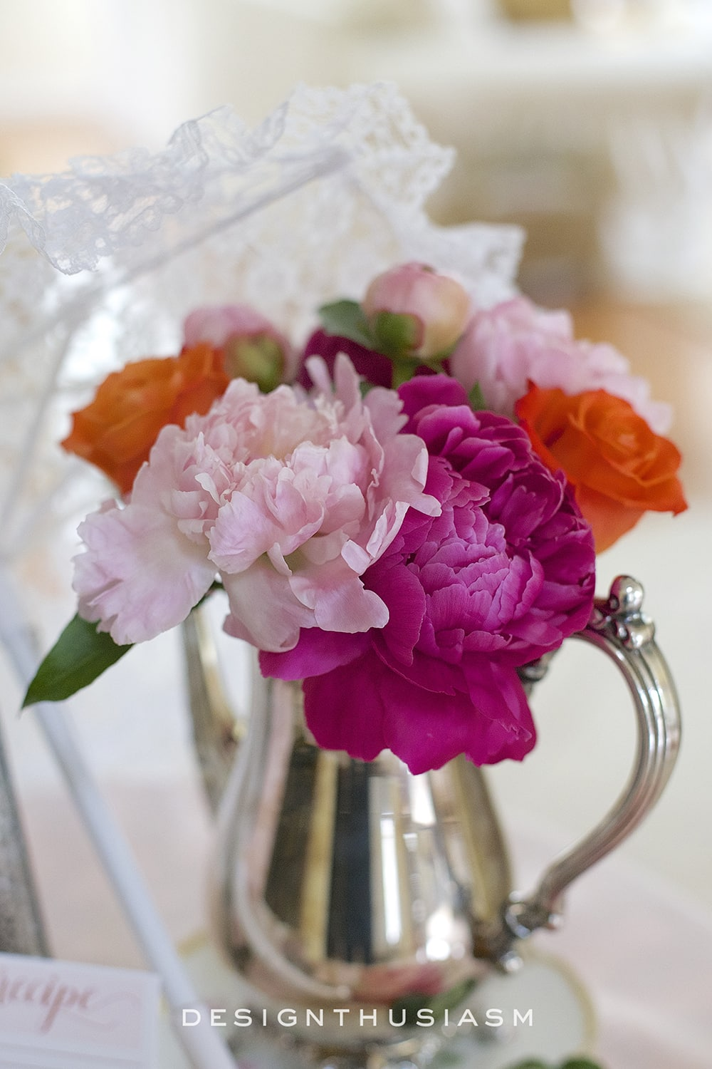 May Flowers for a Bridal Shower | Designthusiasm.com