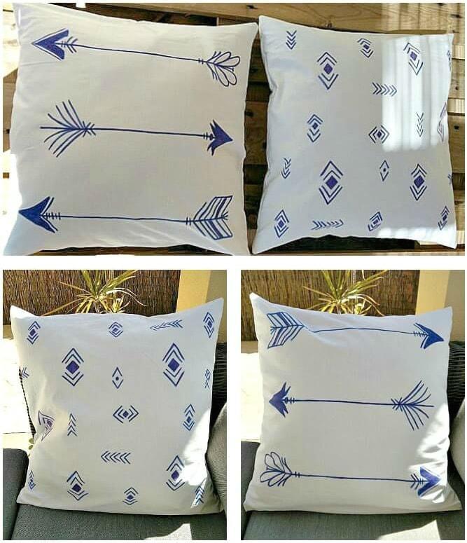 Painted-Tribal-Style-Pillow-cases-kreativk.net-1