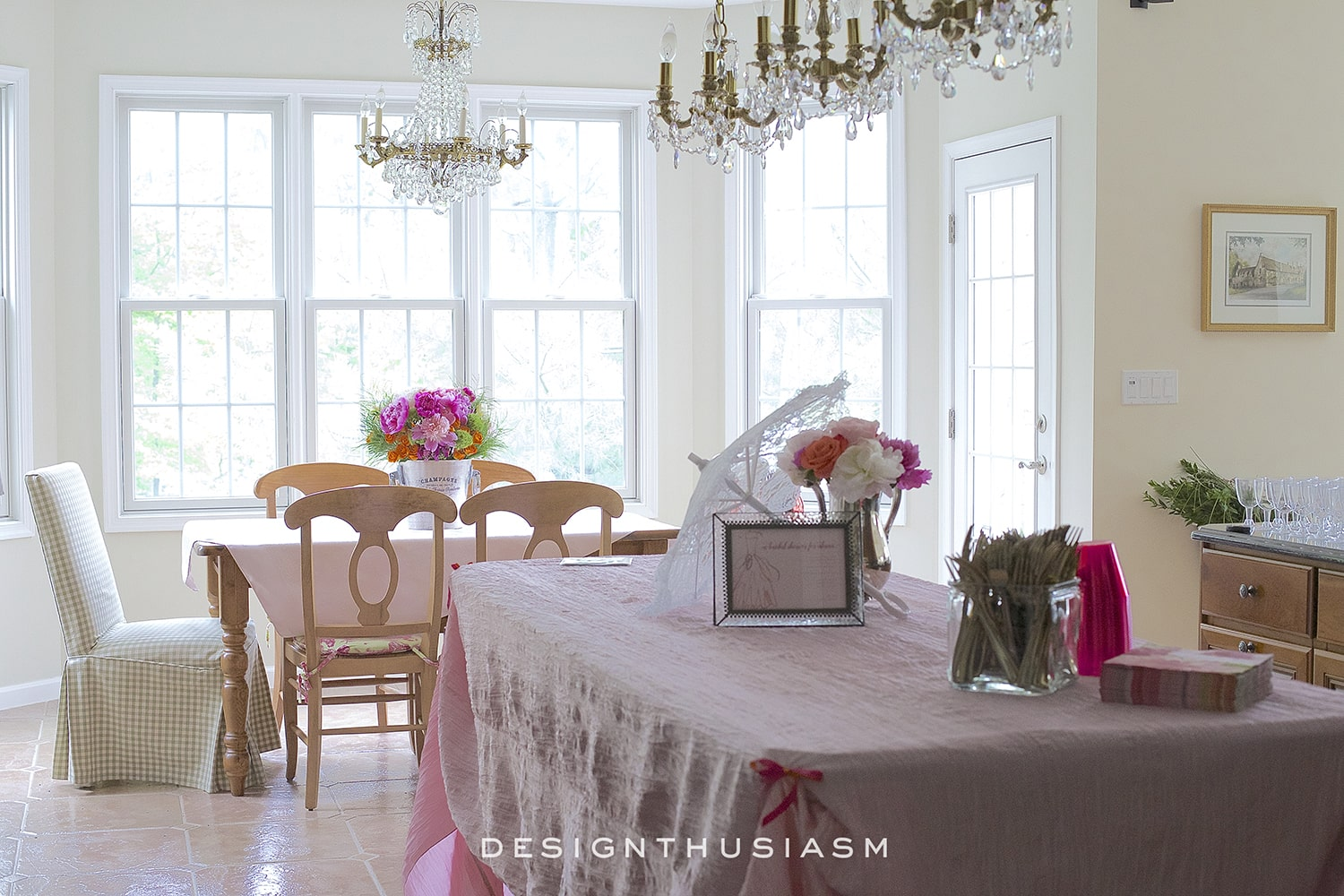 Peonies, Wine and Sunshine | Designthusiasm.com