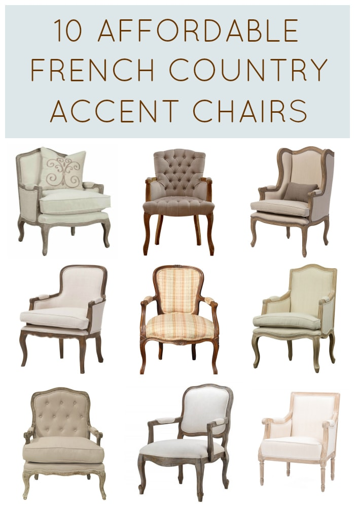 Affordable French Country Chairs Collage