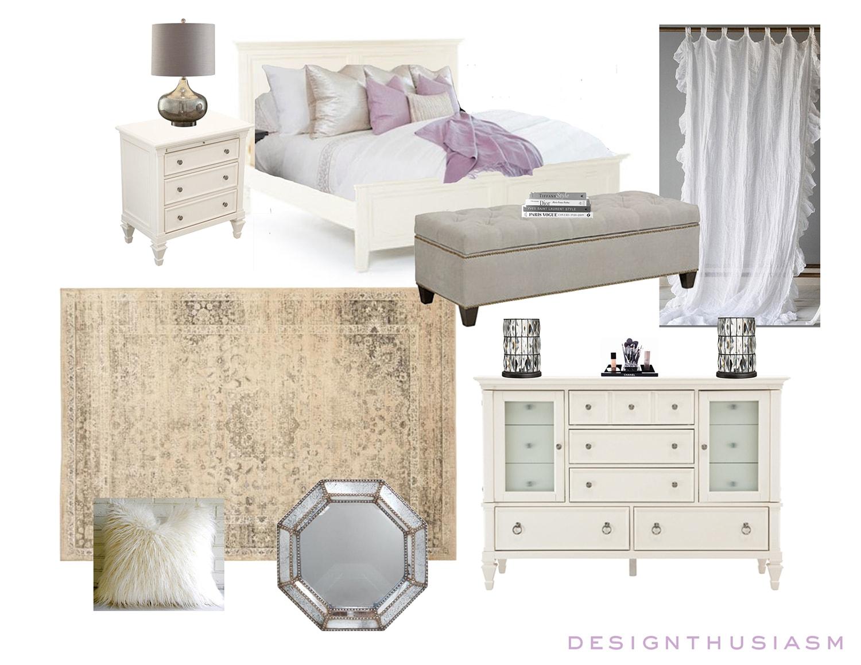 E-Design | Small Apartment Bedroom | Designthusiasm.com