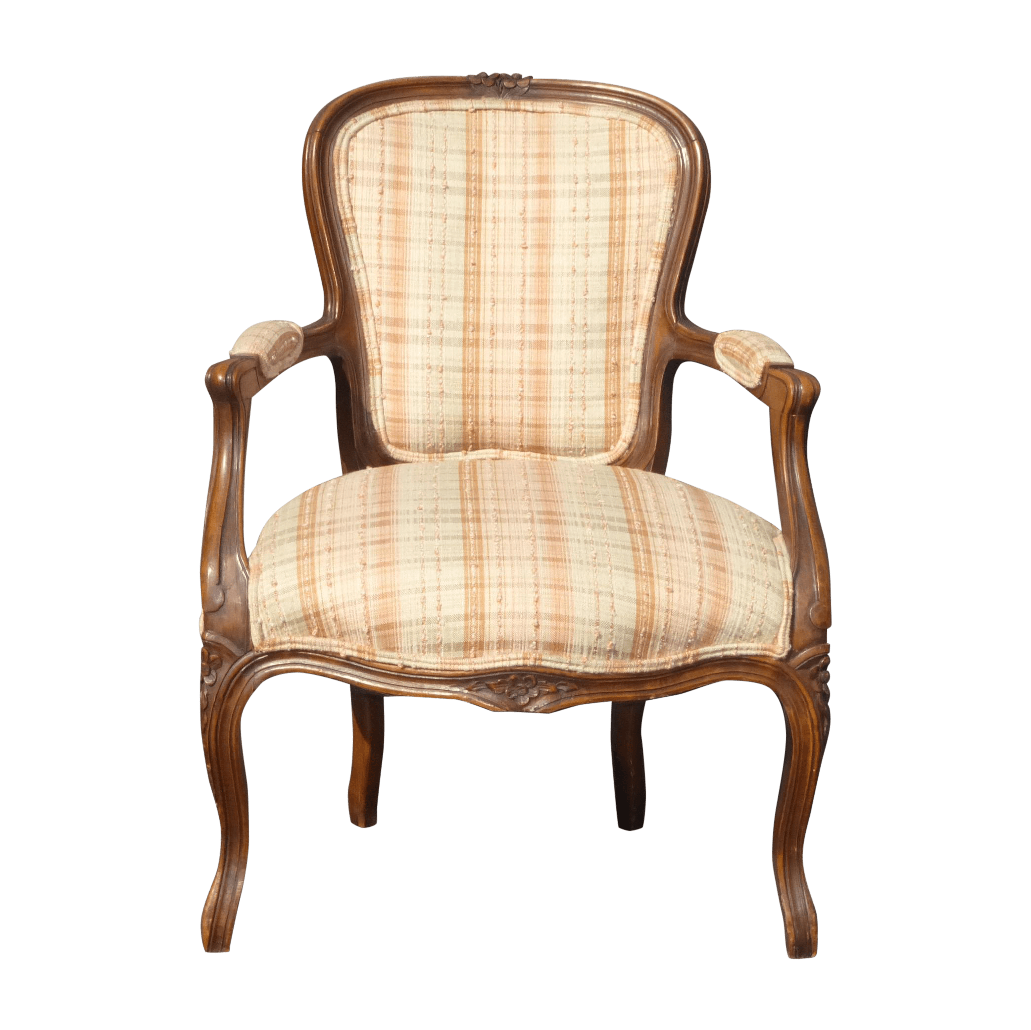 Chairish Plaid Chair 375