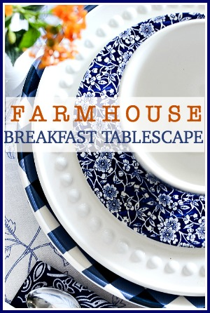 FARMHOUSE BREAKFAST TABLESCAPE-pin-stonegableblog.com