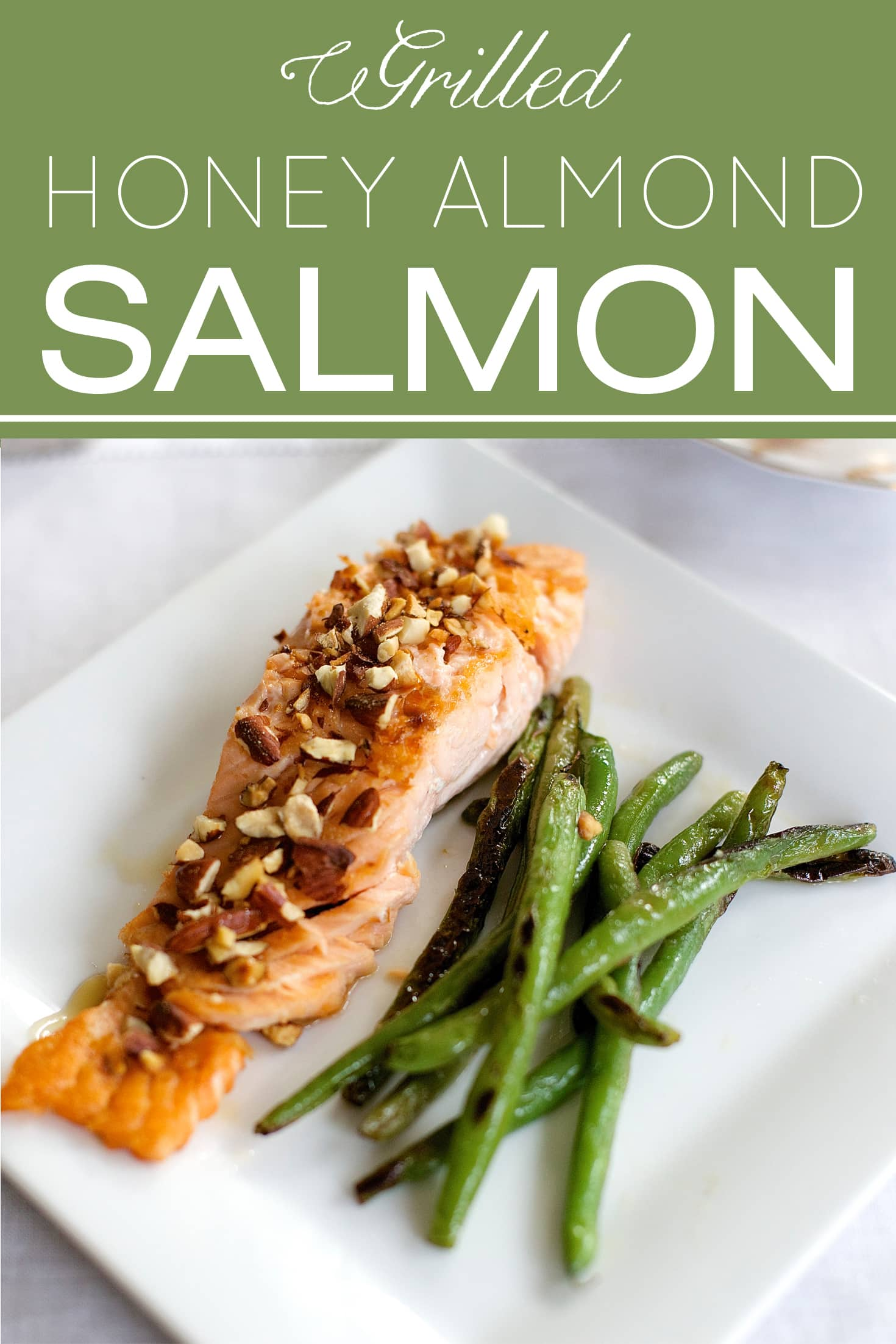 Honey Almond Salmon | Designthusiasm.com