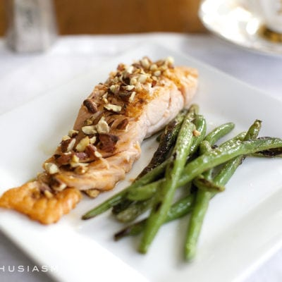 The Simplest Honey Almond Salmon