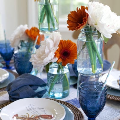 June Tablescape • Indigo Clambake