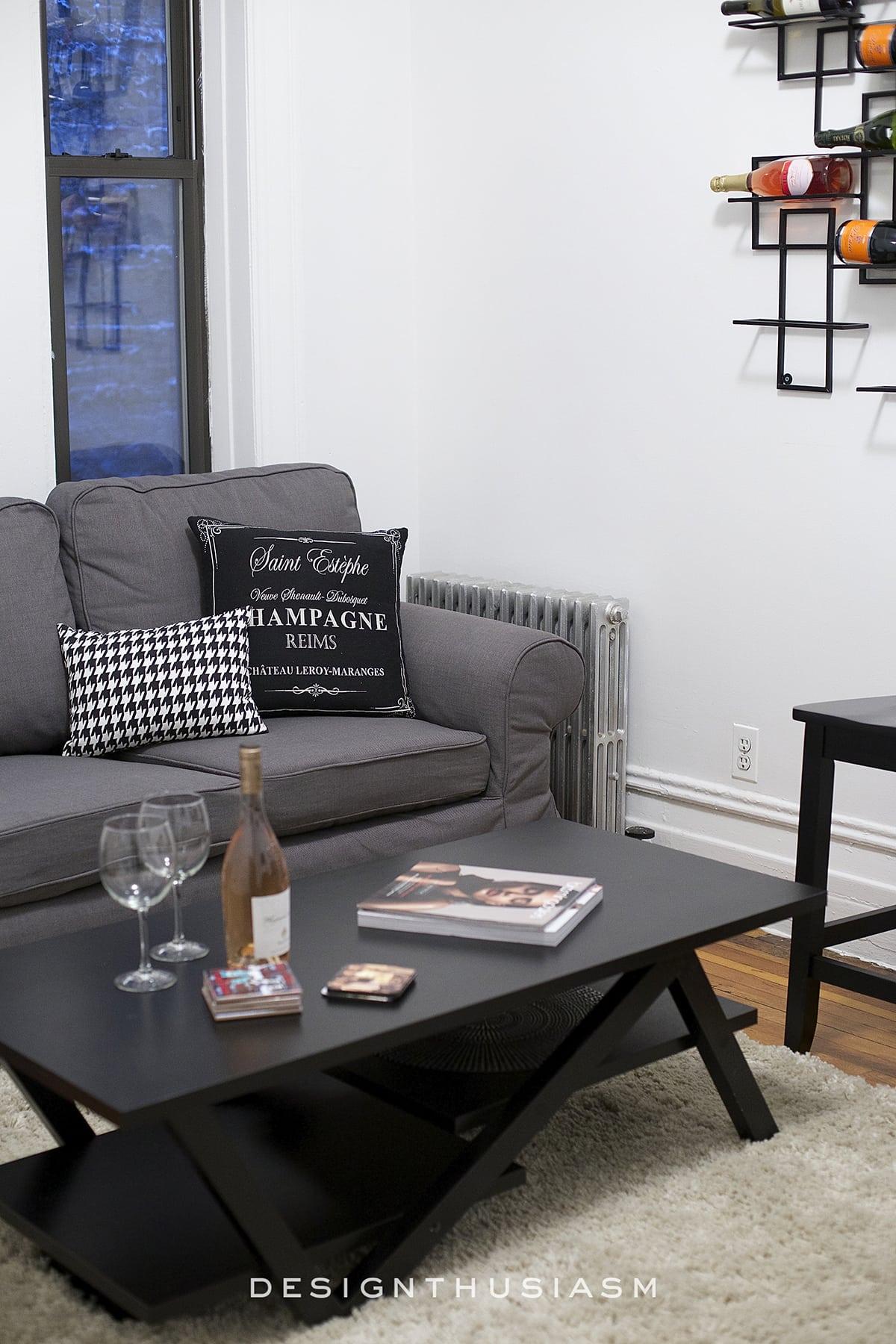 Dark Apartment Living Room
