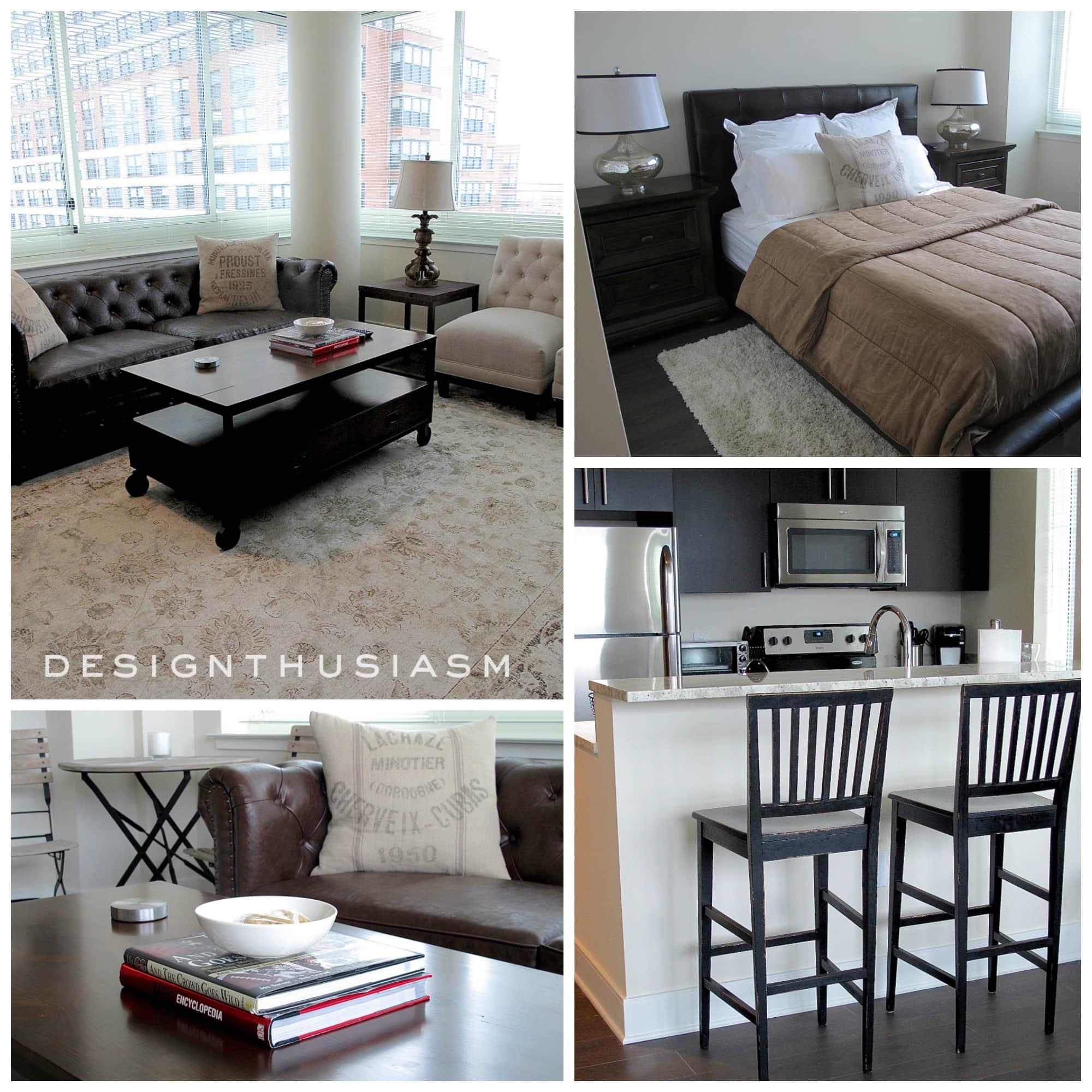 E-Design | Young Man's Apartment | Designthusiasm.com