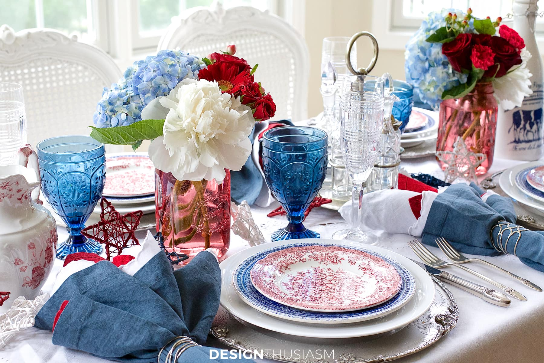 july 4th brunch in red white and blue