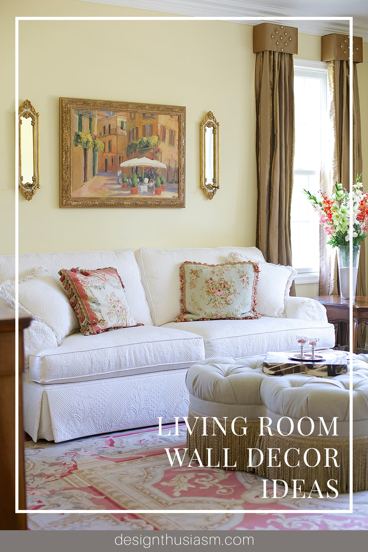 Living Room Sconces How To Update Your Living Room Wall Decor
