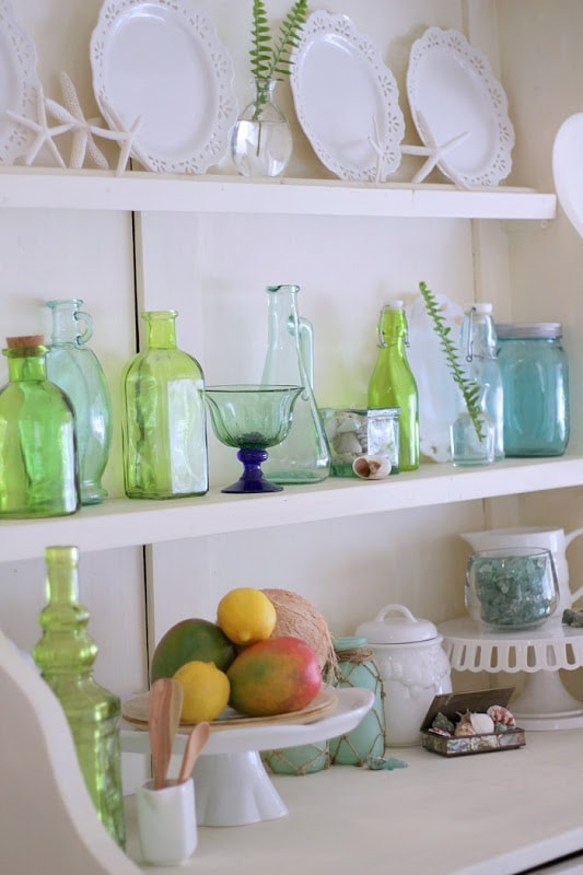 Green Glass Coastal Decor | Carolyns Homework | SIOMT Feature