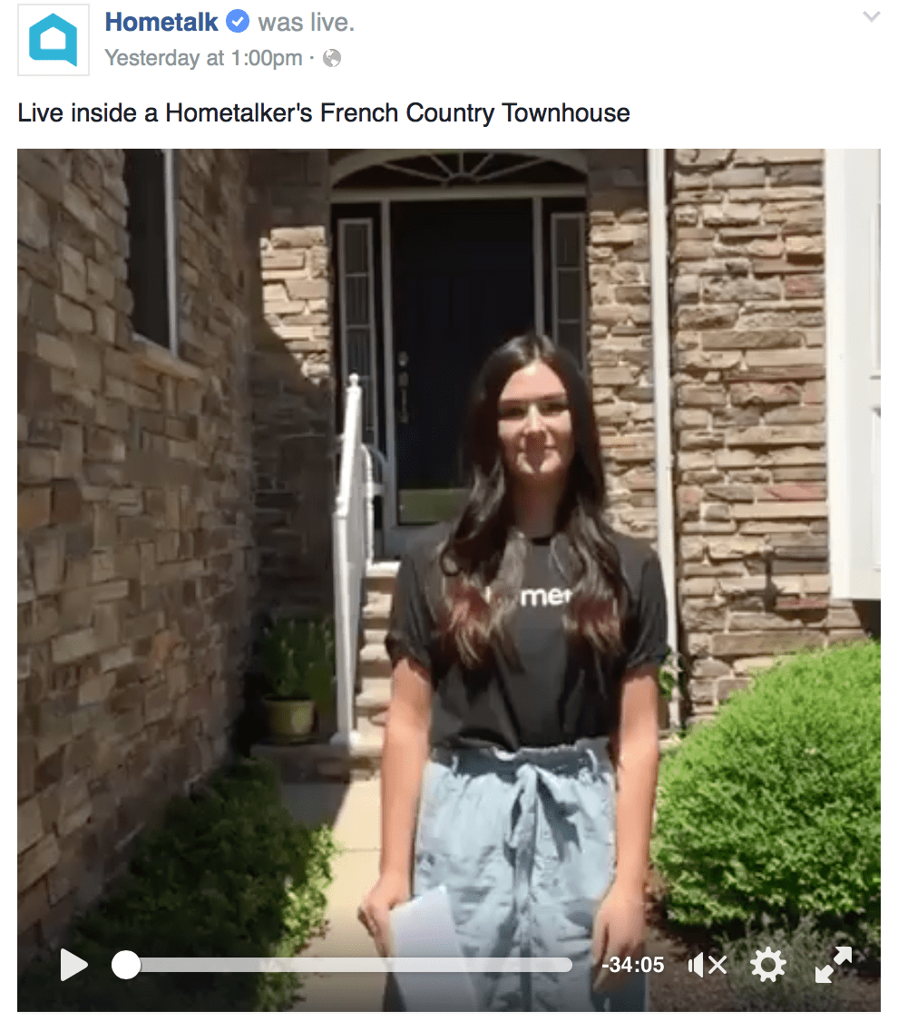 Hometalk Live Video House Tour with Designthusiasm