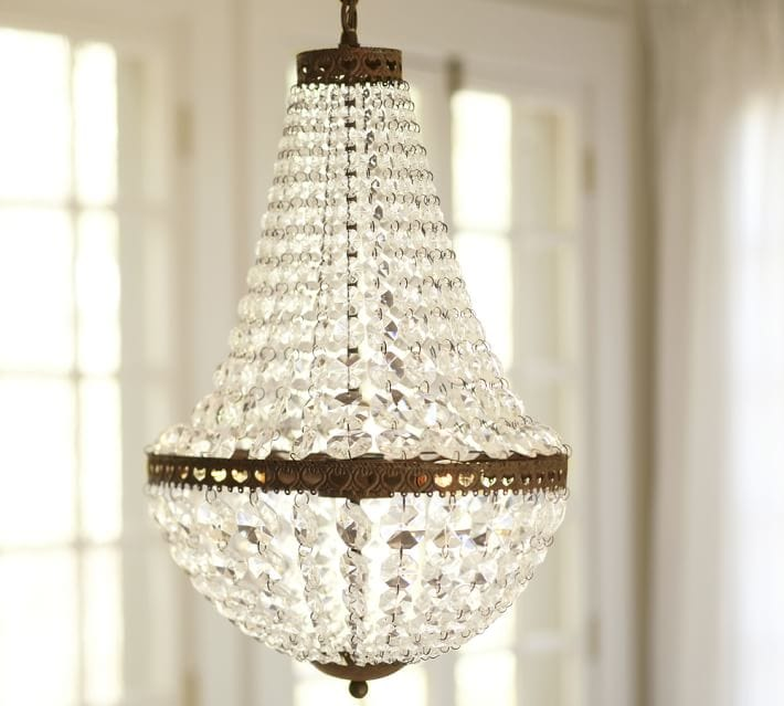 Faceted Crystal Chandelier