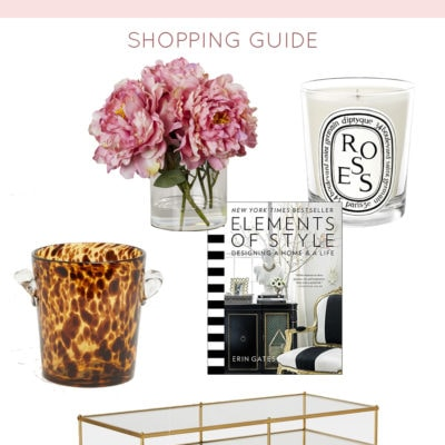 Styling a Coffee Table with a Little Edgy Flair