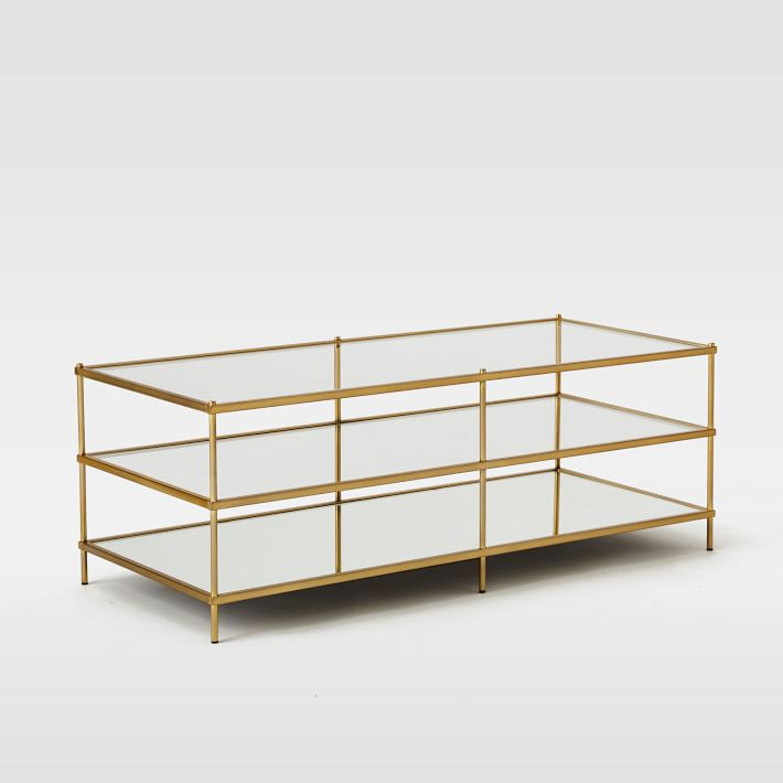 Gold 3 level coffee table