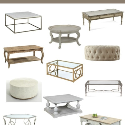 12 Affordable Coffee Tables | Designthusiasm.com