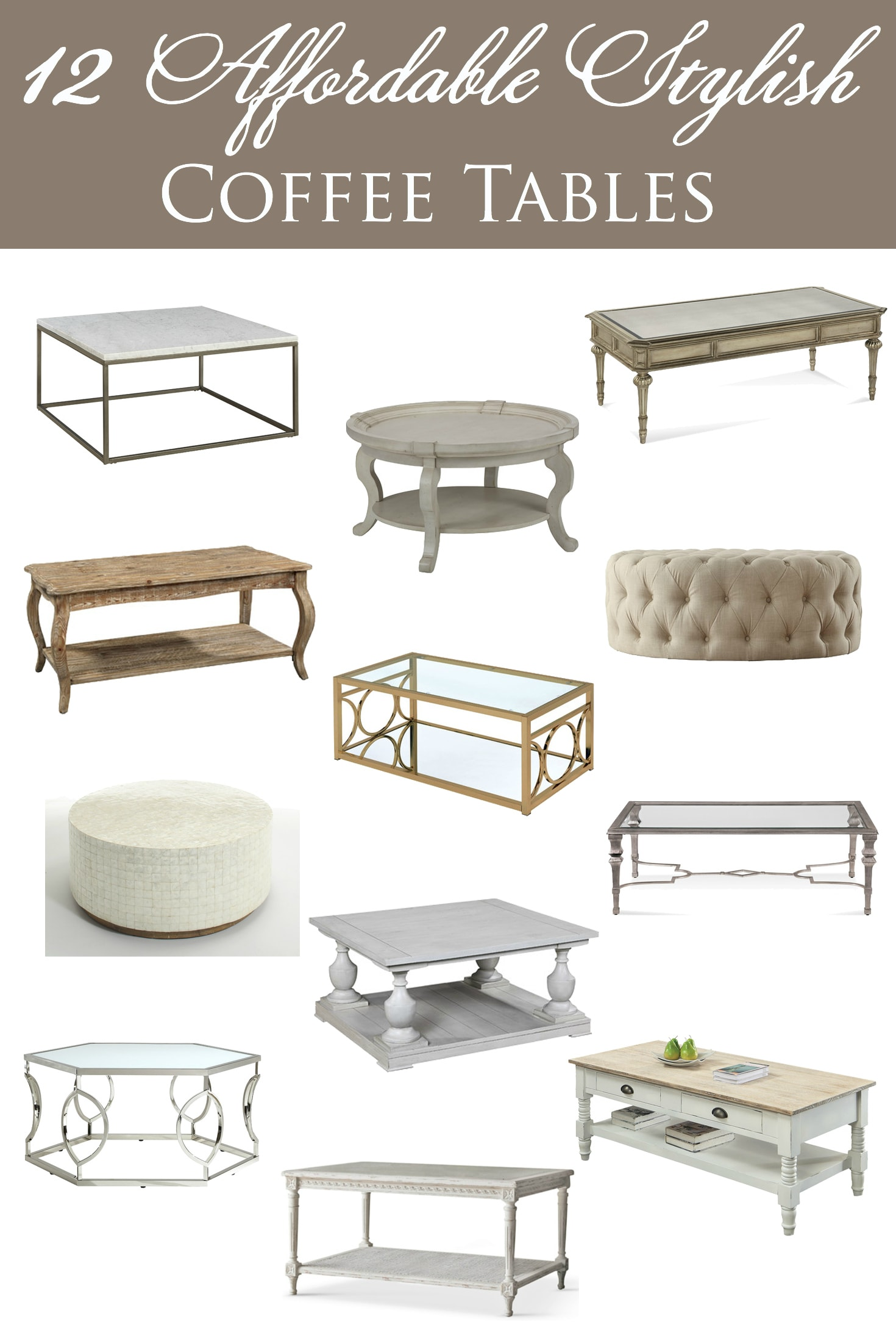 12 Affordable Stylish Coffee Tables