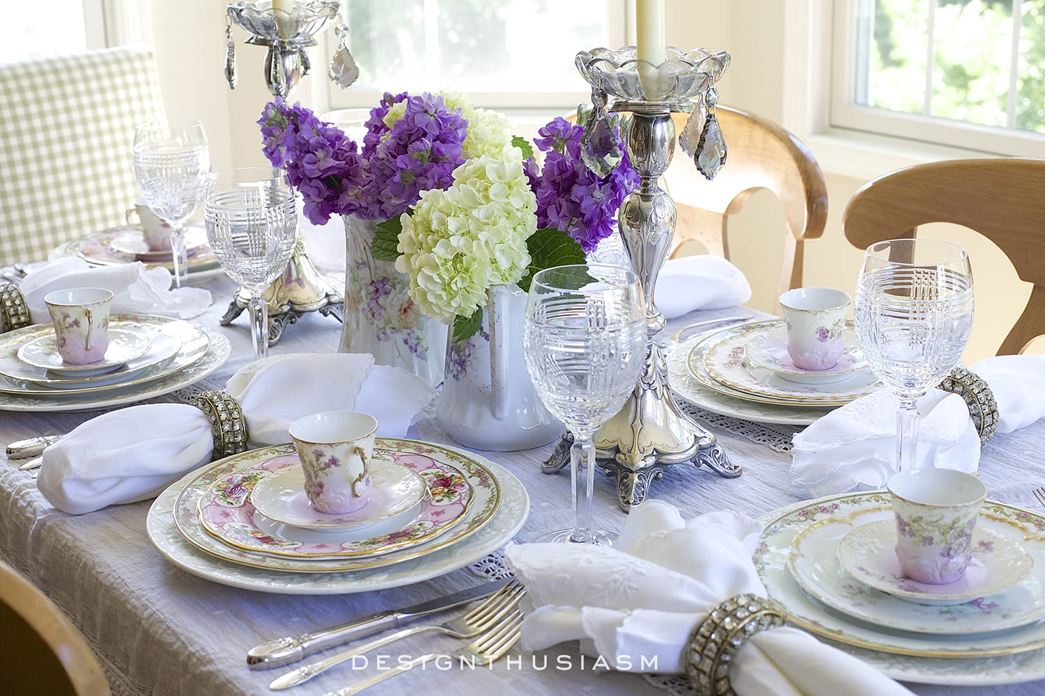 Homestyle Design How To Set A Beautiful Table With Vintage China