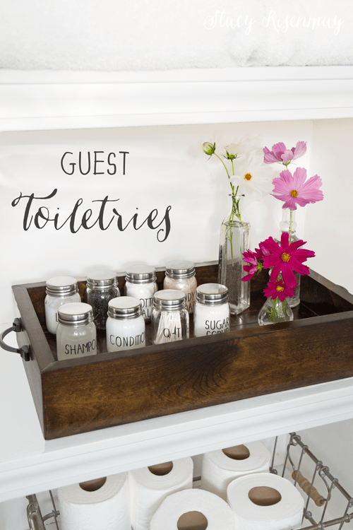 Share It One More Time Inspiration Party #49|One More Time Events www.onemoretimeevents.com|Small Jars for Guest Toiletries | Not Just a Housewife