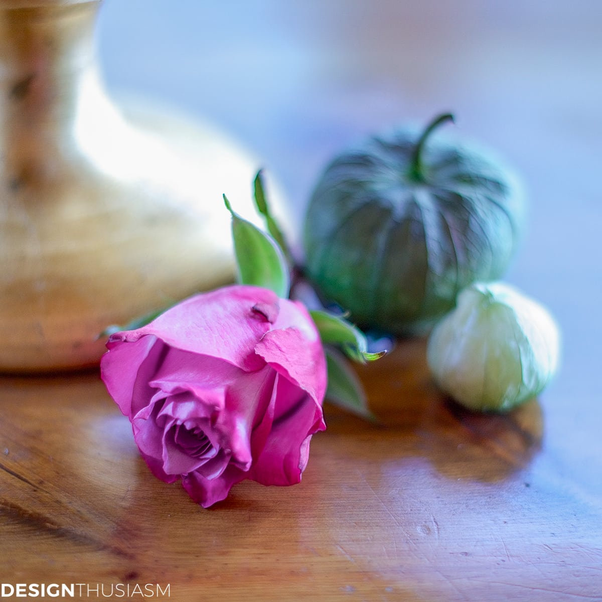 rose and tomatillos