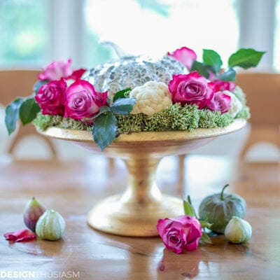 How to Create a Pretty Fall Centerpiece in Feminine Colors