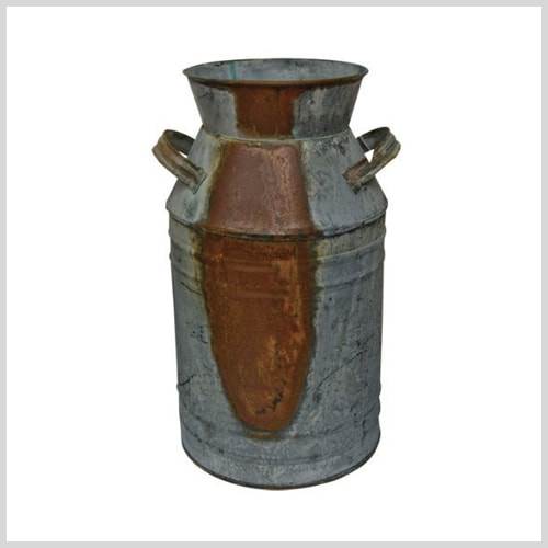 rustic milk can