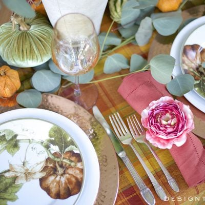 Autumn Color in a Fall Tablescape