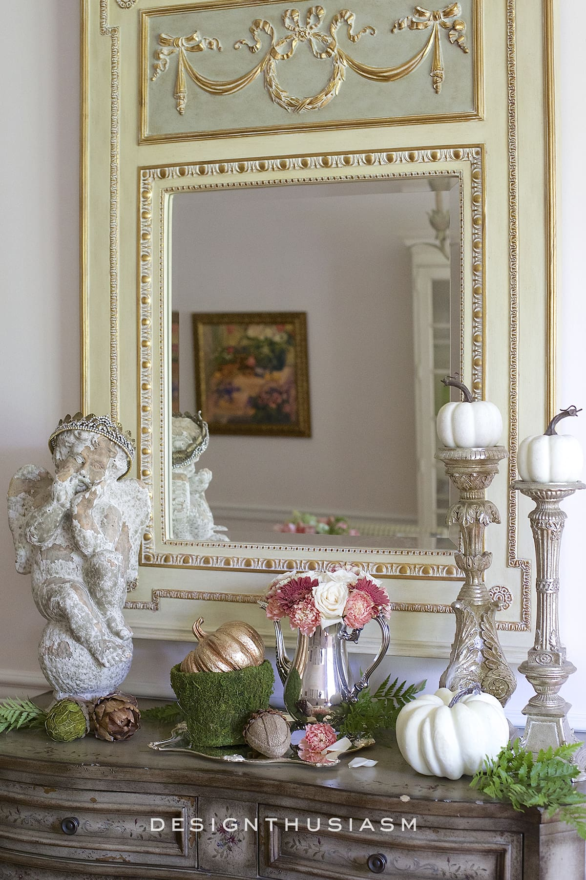 Fall Vignette In The Dining Room