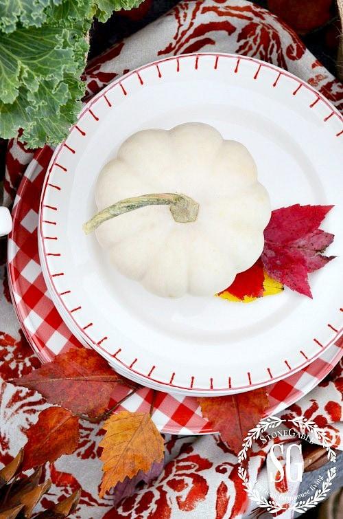 white pumpkin on a plate