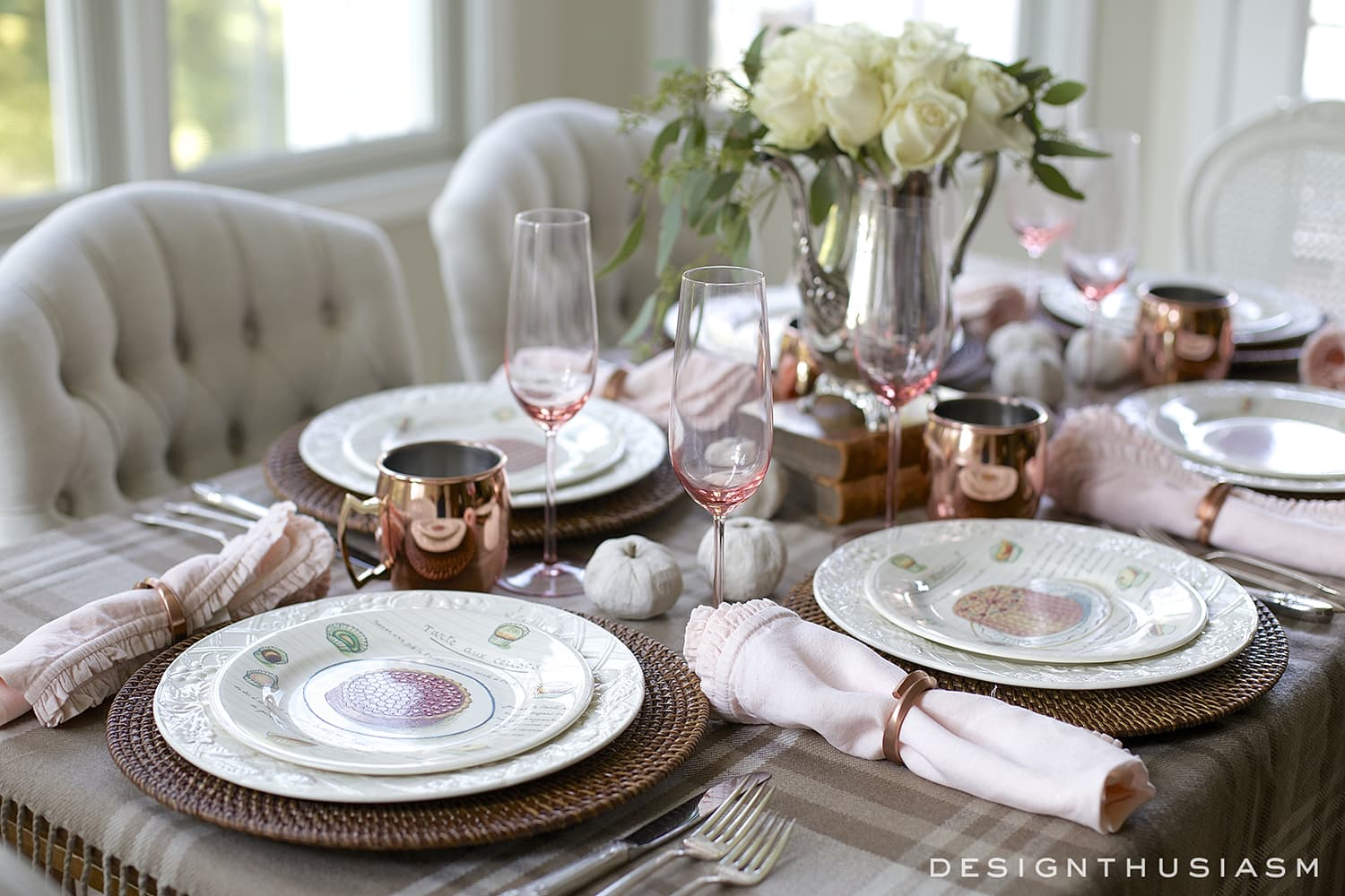 Fall Table Settings how to style a soft and neutral fall table setting