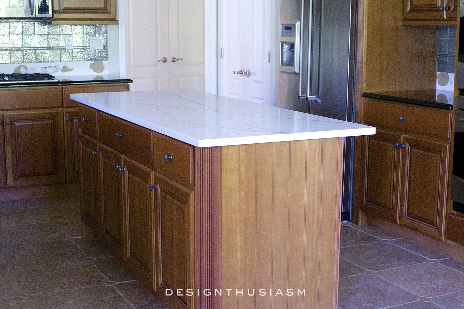Replacing the Kitchen Counter for a Dramatic Impact | Designthusiasm.com