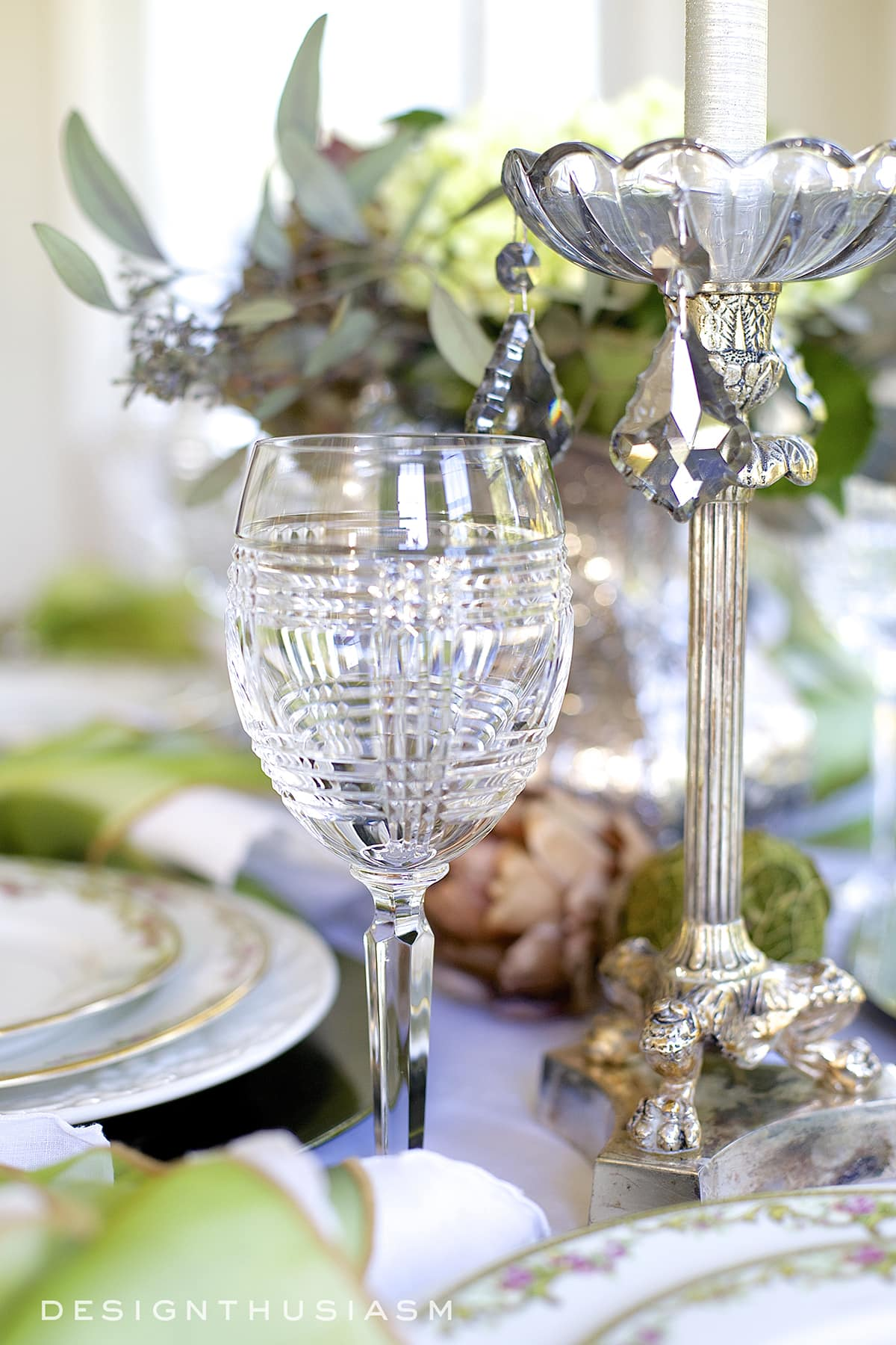 Mixing Casual and Formal in a Tablescape | Designthusiasm.com