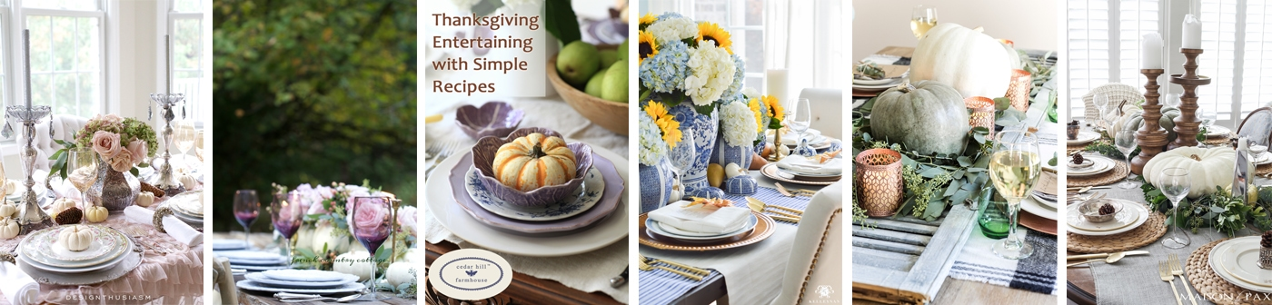 Thanksgiving Entertaining a soft vintage thanksgiving table | holiday entertaining blog tour