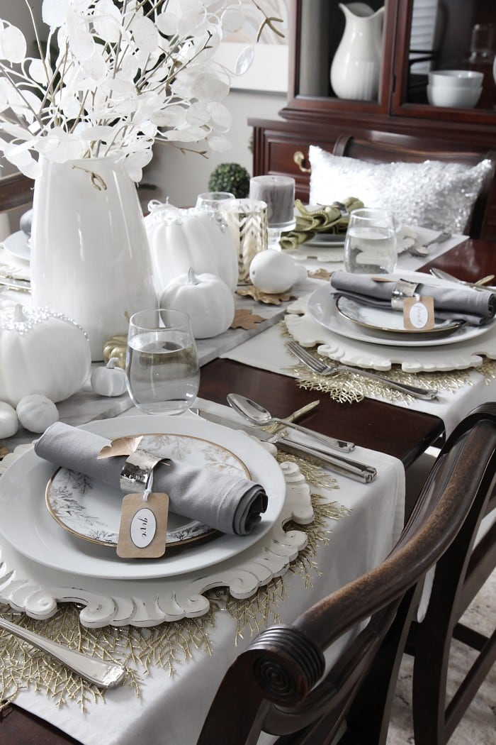 How to set an elegant table for the holidays for less for Elegant table setting for thanksgiving
